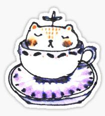 Leaf Bear Relaxing in a Tea Cup Sticker