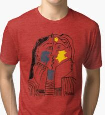 Pablo Picasso The Kiss 1979 Artwork Reproduction For T Shirt, Framed Prints Tri-blend T-Shirt
