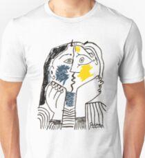 Pablo Picasso Kiss 1979 Artwork Reproduction For T Shirt, Framed Prints Unisex T-Shirt