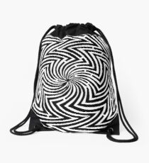 Optical Illusion Maze Drawstring Bag