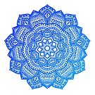 Blue Flower Mandala by Cassidy Capri