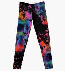 Splatter and Bone on Black Leggings