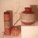 My African Influenced pots by catherine walker