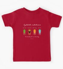 """We are one"" - Cyclochila australasiae cicada (dark colour shirts) Kids Tee"
