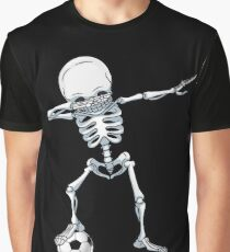 Dabbing Skeleton Soccer T Shirt Halloween Costume Skull Funny Scary Gifts Kids Boys Youth Men Graphic T-Shirt