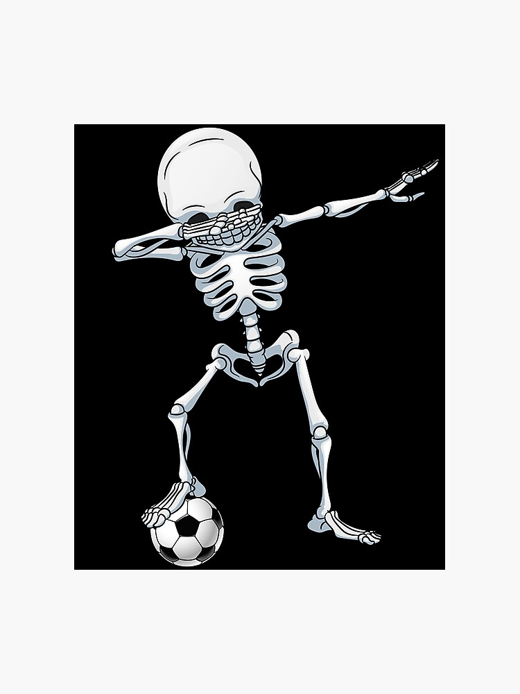 023a2458 Dabbing Skeleton Soccer T Shirt Halloween Costume Skull Funny Scary Gifts  Kids Boys Youth Men Photographic