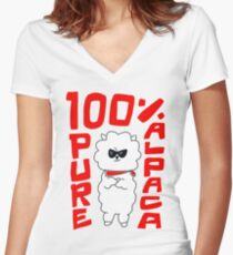 100% Pure Alpaca Women's Fitted V-Neck T-Shirt