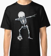 Dabbing Skeleton Soccer T Shirt Halloween Costume Skull Funny Scary Gifts Kids Boys Youth Men Classic T-Shirt