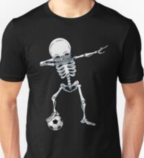 Dabbing Skeleton Soccer T Shirt Halloween Costume Skull Funny Scary Gifts Kids Boys Youth Men Unisex T-Shirt