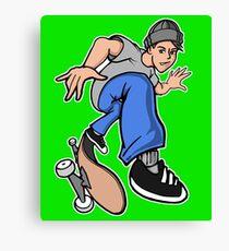 Heelflip Skater Boy Canvas Print
