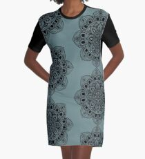 Black Mural Mandala - Art&Deco By Natasha Graphic T-Shirt Dress