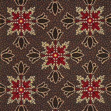 Linoleum pattern 1880s by EdgarCurious