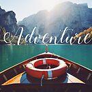 «Live the Adventure - tipografía» de badamg
