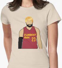 Dumbest Man Meme Women's Fitted T-Shirt