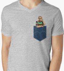 Pocket Jeff Goldblum  Men's V-Neck T-Shirt