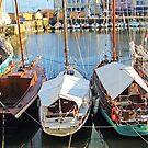 The Boats of Honfleur by Natasha M