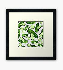 Veggiephile - Cucumbers Framed Print