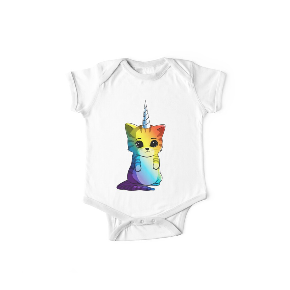 39aca0d9db8 Caticorn T shirt Cat Unicorn Kittycorn Meowgical Rainbow Gifts Kids Girls Women  Funny Cute Tees by
