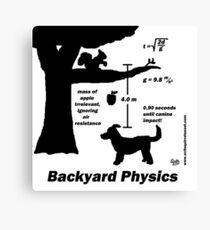 Backyard Physics Canvas Print