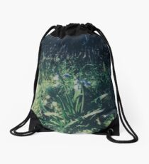 Gradually Blue Drawstring Bag