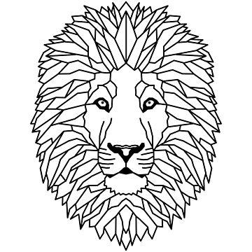 Lion Geometric as Geometric by FrediWicht