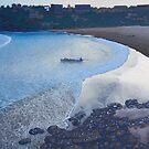 Freshwater beach dusk by Trevor Keeling