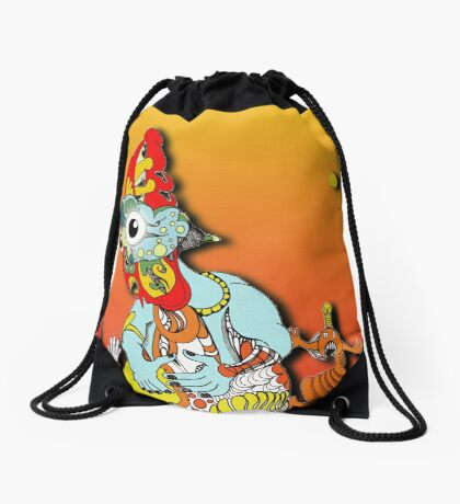 Colour creature and friends  2 Drawstring Bag