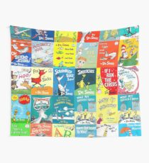 Dr. Seuss Book Covers Wall Tapestry
