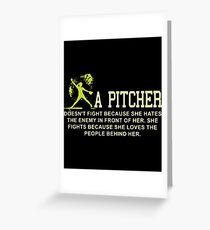 a pitcher game t-shirts Greeting Card