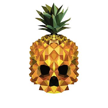 Pineapple Scull Poligonal Tatto by Vi-Key