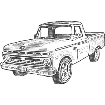 Old Pickup, The Good Old Days, Design by Jobrien58