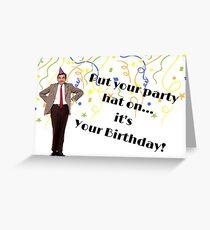 Mr Bean birthday gifts Greeting Card