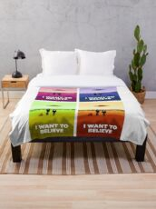 X files I want to believe x4 colors ( more 70 designs XFiles in my shop) Throw Blanket