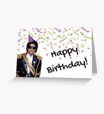 Michael Jackson card Greeting Card