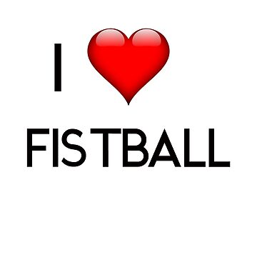 I Love Fistball two lines black by Palme-Solutions