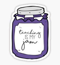 Purple Teaching is My Jam Sticker
