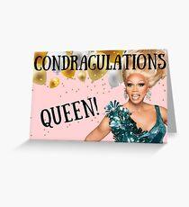 Condragulations Queen, RuPauls Drag Race, Geburtstag, Jubiläum, Muttertag, Vatertag, Abschlussfeier, besondere Anlässe Grußkarte