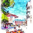 Albania: street vendor in Fier by Giuseppe Cocco