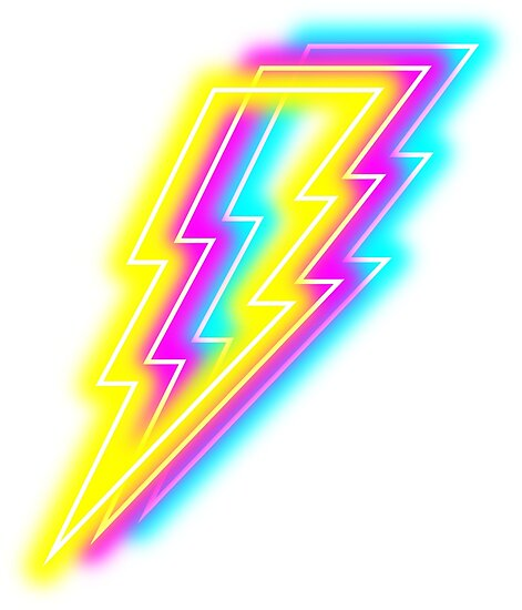 'Neon Lightning Bolt' Poster by cc2491cc