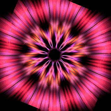 Fractal Multicolor Flower by Vitta