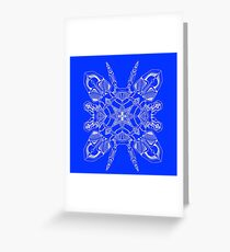 Robo Pattern Blue Greeting Card