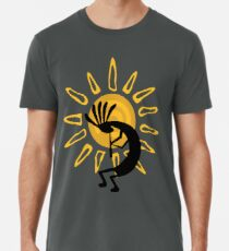 Kokopelli Southwest Gold Sun Men's Premium T-Shirt