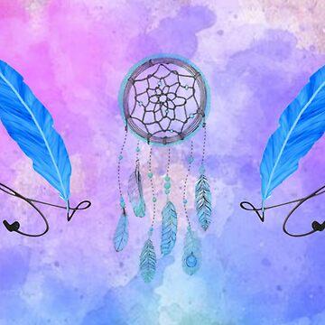 Dreamcatcher & Feathers  by imaginationcat