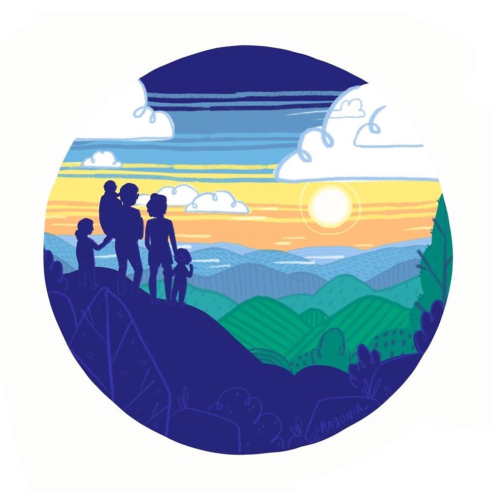 Mountains Art Design  by Ragonia