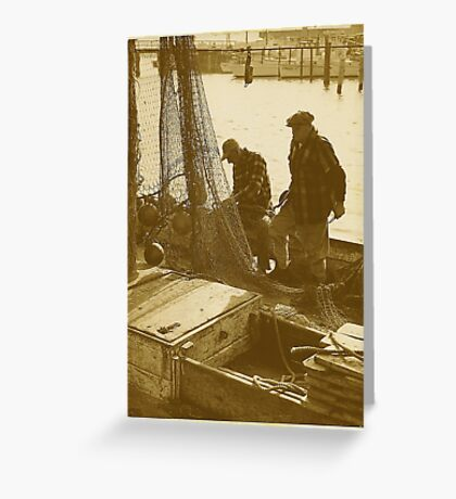 Tending The Nets Greeting Card
