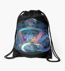 Alien Time Machine Drawstring Bag