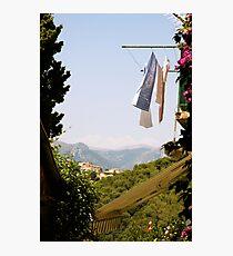 hanging laundry 1 Photographic Print