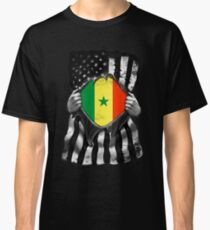 Senegal Flag Senegalese Flag Ripped Effect - Gift For Senegalese Classic T-Shirt