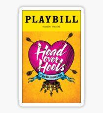 head over heels playbill Sticker