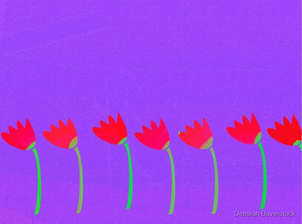 Tulips in a row by Deborah Baverstock